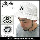 ステューシー STUSSY Checkerboard Bucket ハット(stussy hat Stussy HAT ハット メンズ・男性用 帽子 bousi 132505 Stussy stussy ストゥーシー スチューシー) ice filed icefield