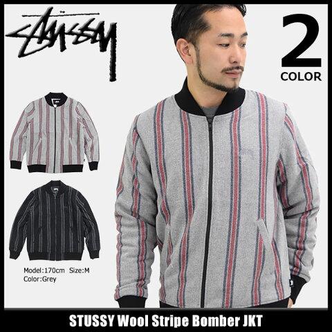 ステューシー STUSSY ジャケット メンズ Wool Stripe Bomber(stussy JKT ボンバージャケット ミリタリージャケット JACKET JAKET アウター ジャンパー・ブルゾン メンズ・男性用 115360 USAモデル 正規 品 ストゥーシー スチューシー)