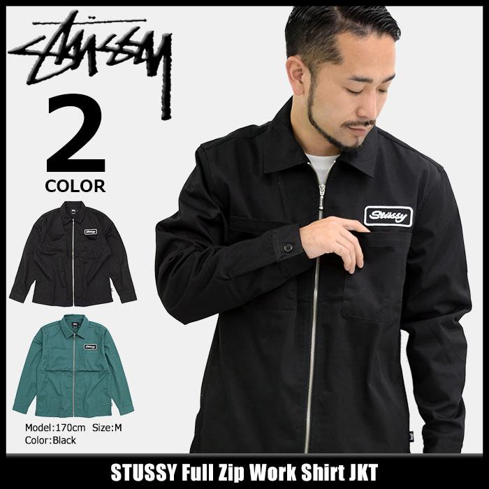 ステューシー STUSSY ジャケット メンズ Full Zip Work Shirt(stussy JKT フルジップ シャツジャケット JACKET JAKET アウター ジャンパー・ブルゾン メンズ・男性用 111947 ストゥーシー スチューシー) ice filed icefield