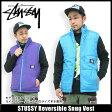 ステューシー STUSSY Reversible Snug ベスト(stussy vest ベスト メンズ・男性用 015705 スチューシー) ice filed icefield
