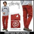 ステューシー STUSSY Sunset Twill 5 Pocket パンツ(stussy pant チノパンツ メンズ・男性用 116179 Stussy stussy ストゥーシー スチューシー) ice filed icefield