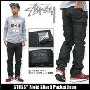 ステューシー STUSSY Rigid Slim 5 Pocket デニムパンツ(stussy jean denim pant ジーンズ ジーパン メンズ・男性用 116185 Stussy stussy ストゥーシー スチューシー) ice filed icefield