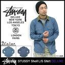 【送料無料】ステューシー STUSSY Shell シャツ 長袖 デラックス(stussy shirt deluxe シャツ メンズ 男性用 4011031) ice filed icefield