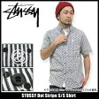 ステューシー STUSSY Dot Stripe シャツ 半袖(stussy shirt シャツ メンズ・男性用 111635 Stussy stussy スチューシー) ice filed icefield