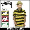 ステューシー STUSSY Lion Stripe ポロシャツ 半袖(stussy polo 半袖ポロシャツ POLO トップス メンズ・男性用 114566 ポロ・シャツ スチューシー)