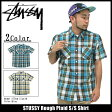 ステューシー STUSSY Rough Plaid シャツ 半袖(stussy shirt シャツ メンズ・男性用 111722 Stussy stussy ストゥーシー スチューシー) ice filed icefield