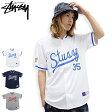 ショッピングSTUSSY ステューシー STUSSY シャツ 半袖 メンズ Script Baseball Jersey(stussy shirt ベースボールシャツ カジュアルシャツ トップス メンズ・男性用 114807 ストゥーシー スチューシー)