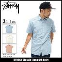ステューシー STUSSY シャツ 半袖 メンズ Classic Linen(stussy shirt カジュアルシャツ トップス メンズ・男性用 111872 ストゥーシー スチューシー) ice filed icefield