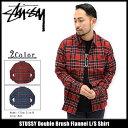 ステューシー STUSSY シャツ 長袖 メンズ Double Brush Flannel(stussy shirt ネルシャツ カジュアルシャツ トップス チェック メンズ 男性用 111899 USAモデル 正規 品 ストゥーシー スチューシー)