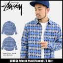 ステューシー STUSSY シャツ 長袖 メンズ Printed Plaid Flannel(stussy shirt ネルシャツ カジュアルシャツ トップス チェック メンズ 男性用 111942 USAモデル 正規 品 ストゥーシー スチューシー)
