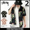 ステューシー STUSSY シャツ 半袖 メンズ Skull Pattern(stussy shirt カジュアルシャツ トップス メンズ・男性用 111969 USAモデル 正規 品 ストゥーシー スチューシー) ice filed icefield