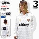 ステューシー STUSSY シャツ 長袖 メンズ Soccer Jersey(stussy shirt サッカーシャツ ゲームシャツ Vネック トップス メンズ 男性用 114814 Stussy stussy USAモデル 正規 品 ストゥーシー スチューシー)