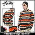 ステューシー STUSSY Country Stripe Crew セーター(stussy sweater ニット トップス メンズ・男性用 017311 スチューシー) ice filed icefield
