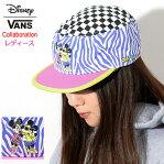 バンズ VANS キャップ ディズニー ハイパー ミニー ペインターズ コラボ ( vans×Disney Hyper Minnie Painters Cap Wネーム 帽子 レディース 女性用 キッズ 子供用 VN0A3UHSWHT ヴァンズ )