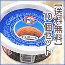 【送料無料】 ブルーシールアイスクリームチョコレート120ml×10個セット 10P03Dec16 【RCP】バレンタイン・ホワイトデー