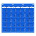 日本製 SAKI(サキ) カレンダーポケット Mサイズ W-416 ブルー【同梱 代引き不可】
