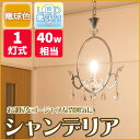 【送料無料】シャンデリア 1灯式 (電球色) 40W相当 フィラメント電球 LEDペンダントライト ルミナス TN-CDR-1L ゴージャスな雰囲気