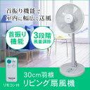 扇風機 リビングファン リビング扇風機 30cm羽根 TEKNOS テクノス KI-166R 【送料区分B】