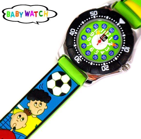 【BABY WATCH】ベビーウォッチジップザップ子供用腕時計【サッカー】【雑貨】