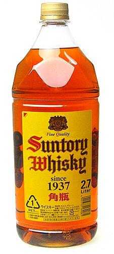Suntory whisky square bottle 2700 ml PET bottle 02P01Sep13