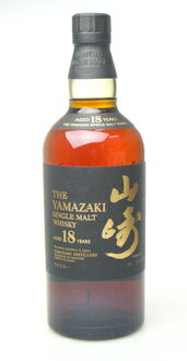 700 ml of Suntory single malt whiskey 18, Yamasaki 43 degrees a year whiskey