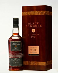 Black Bowmore 42 in 1964 distillation 700 ml 40 degrees single malt whisky