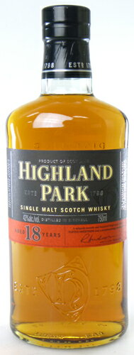 Highland Park 18 years 750 ml single malt whiskey