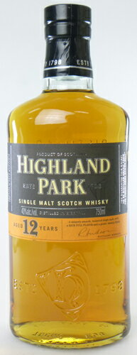 Highland Park 12 years 750 ml single malt whiskey