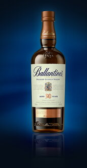 700 ml of Ballantine 30 years 43 degrees Bullen dead whiskey 02P01Sep13