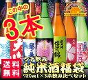 【送料無料】ウチ飲み純米酒福袋3本セット 720ml×3本 ...