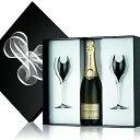 楽天ワイン紀行ギフト グラスセット ルイ・ロデレール ブリュット・プルミエ デュオ ロゴ入りグラス2脚セット ギフトボックス入り シャンパン