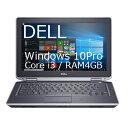 【中古】Dell Latitude E6320Windows10Pro 64bitCorei3-2330M(2.2GHz)メモリ4GB HDD250GBDVDドライブ大容量バッテリー搭載【RCP】宅急..