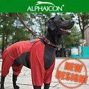 【NEWモデル】ALPHAICON直営店アルファアイコン【中型犬/M】レインドッグガードレインコート==