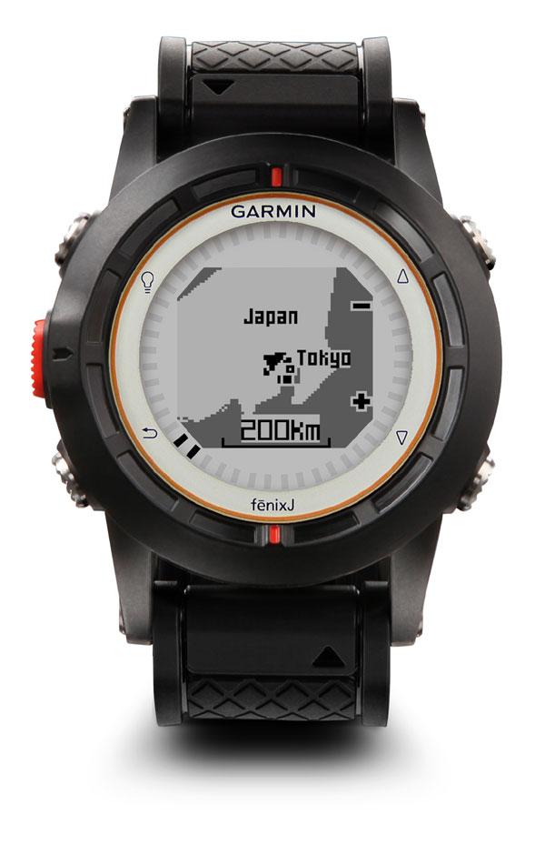『fenix J 日本語版 ハンズフリーGPS機高感度GPSチップ搭載(fenixJ)GARMIN(ガーミン) ワイヤレス温度センサー 本格アウトドアGPSウォッチ!【送料・手数料無料】