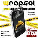 "[iPhone4S / 4] is protected 3 in 1 a liquid crystalline film protective cover [transparent clear film] smartphone case [iphone4s case] [shock absorption] [FRONT+BACK] Wrapsol (ラプソル): ""2 3 prevention of 1 fall breaking shock absorption huskiness wound protection"""