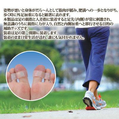 【ポイント10倍】【送料無料】【ゆうパケット】足指にはめるだけ、内側体重歩行をサポート 1000円ポッキリ ●足指スタイリッシュリングW