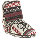 ショッピングニットブーツ ムクルクス MUK LUKS 冬物 室内履き WOMEN レディース ブーツ Ala Mode Women's Tall Knit Bootie Slipper ニット ブーツ スリッパ ブラック サイズM