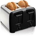 4スライス ポップアップ トースター 人気トースター ハミルトンビーチ Hamilton Beach Cool Wall 4-Slice Toaster Chrome