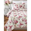 ローラアシュレイ シングル リディア ベッドキルトセット ピンク マルチカバー キルト 寝具 ベッドカバー ピロケース