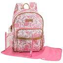 ショッピングオムツ ローラアシュレイ ピンク/ホワイト マザーズバッグ バックパック リュック マザーズバッグ おむつバッグ