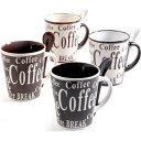 マグカップ 4個 スプーン4本 ミスターコーヒー Mr. Coffee Bareggio 8-Piece Mug Set コーヒーカップ