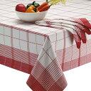 テーブルクロス デザインインポート DII 格子縞 132cmx132cm 100% コットン Radish Plaid Tablecloth おうち時間 ステイホーム