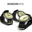 メンズ 腕時計 バウンサー BOUNCER ヴィンテージ ミリタリーウォッチ ナイロンベルト NATOタイプ アナログ 5気圧防水 あす楽 送料無料