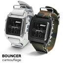 メンズ デジタル 腕時計 バウンサー BOUNCER カモフラージュ T6353G ナイロンベルト NATOタイプ ミリタリーウォッチ ブランド バウンサー あす楽