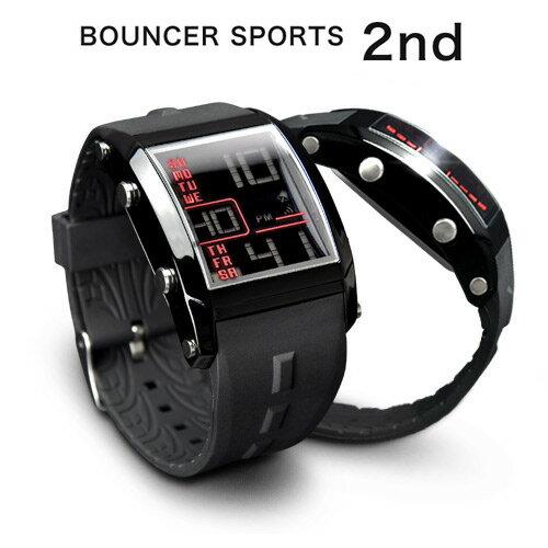メンズ デジタル 腕時計 BOUNCER バウンサー スポーツウォッチ 防水 ストップウォ…...:idealstore:10000318