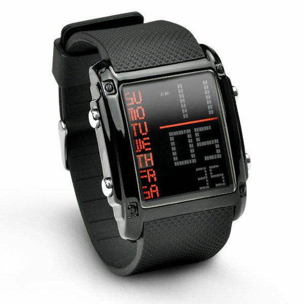 メンズ デジタル 腕時計 BOUNCER SPORTS バウンサー スポーツ 防水 ストッ…...:idealstore:10000276