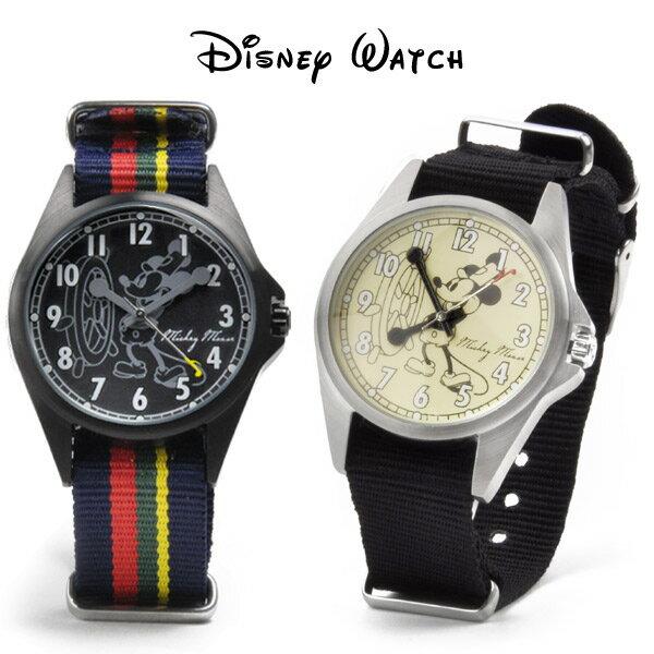 ミッキーマウス メンズ 腕時計 ディズニーウォッチ ミッキーの船長さん NATOベルト 送料無料 あす楽
