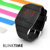 メール便可 blink time ブリンクタイム シリコンウォッチ 正規品 LED メンズ 腕時計 デジタル ウォッチ men's digital watch