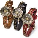 ハンドメイド メンズ レディース 腕時計 天然革 レザ