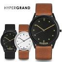 メンズ デザイン 腕時計 正規品 HYPER GRAND ハイパーグランド レザーベルトシリーズ メンズ腕時計 デザインウォッチ 本革 おしゃれ 送..